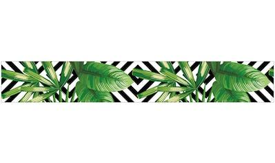 MySpotti Fensterfolie »Look Leaves'n'Cevron«, halbtransparent, glattstatisch haftend,... kaufen