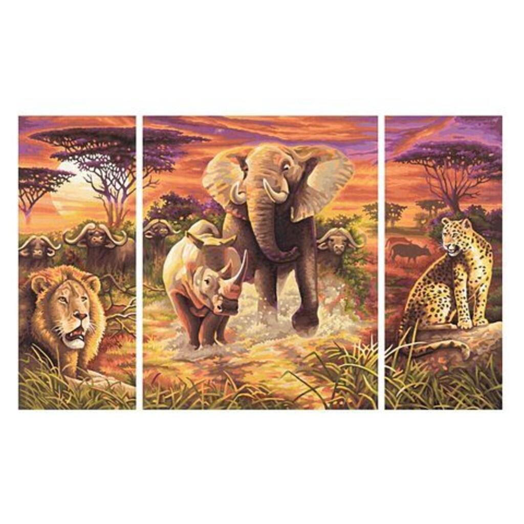 Schipper Malen nach Zahlen »Triptychon - Die großen Fünf«, Made in Germany