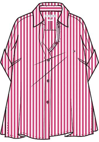 Tommy Hilfiger Kurzarmbluse »Cutton Stripe Relaxed Shirt SS«, mit Tommy Hilfiger... kaufen