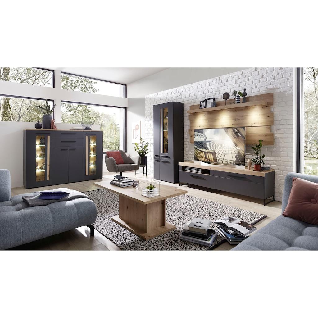Innostyle Sideboard »Loft Two«, Breite 180 cm, 2 Holztüren, 3 Schubkästen, 1 offenes Fach