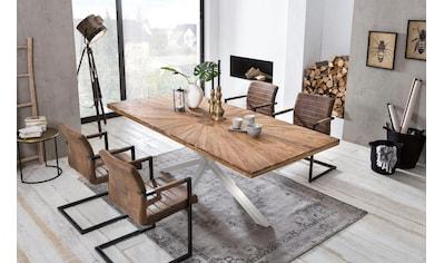 SIT Esstisch »Tops&Tables«, aus recyceltem Altholz Teak kaufen