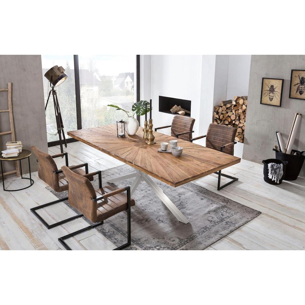 SIT Esstisch »Tops&Tables«, aus recyceltem Altholz Teak