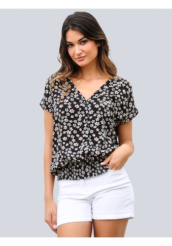 Alba Moda Kurzarmbluse, mit femininen Streublümchen kaufen