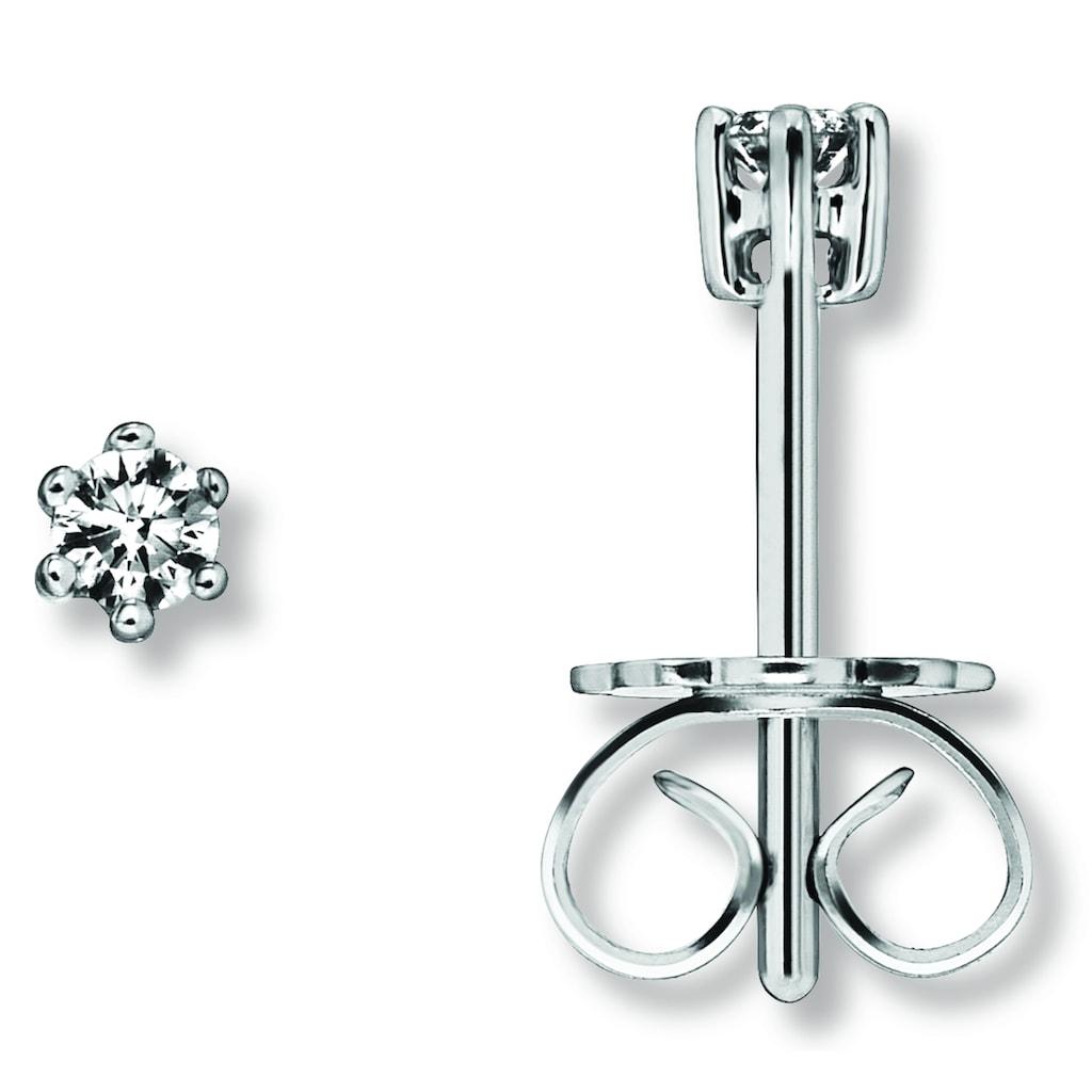 ONE ELEMENT Paar Ohrstecker »Ohrringe / Ohrstecker aus 585 Weißgold mit 0,10 ct Diamant«
