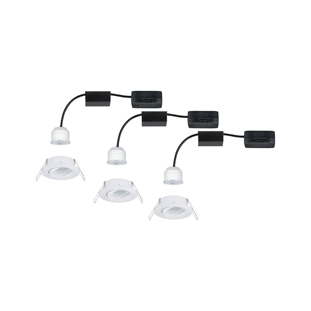 Paulmann LED Einbaustrahler »3er-Set Nova mini schwenkbar 3x4W 2.700K Weiß matt 230V«, 3 St., Warmweiß