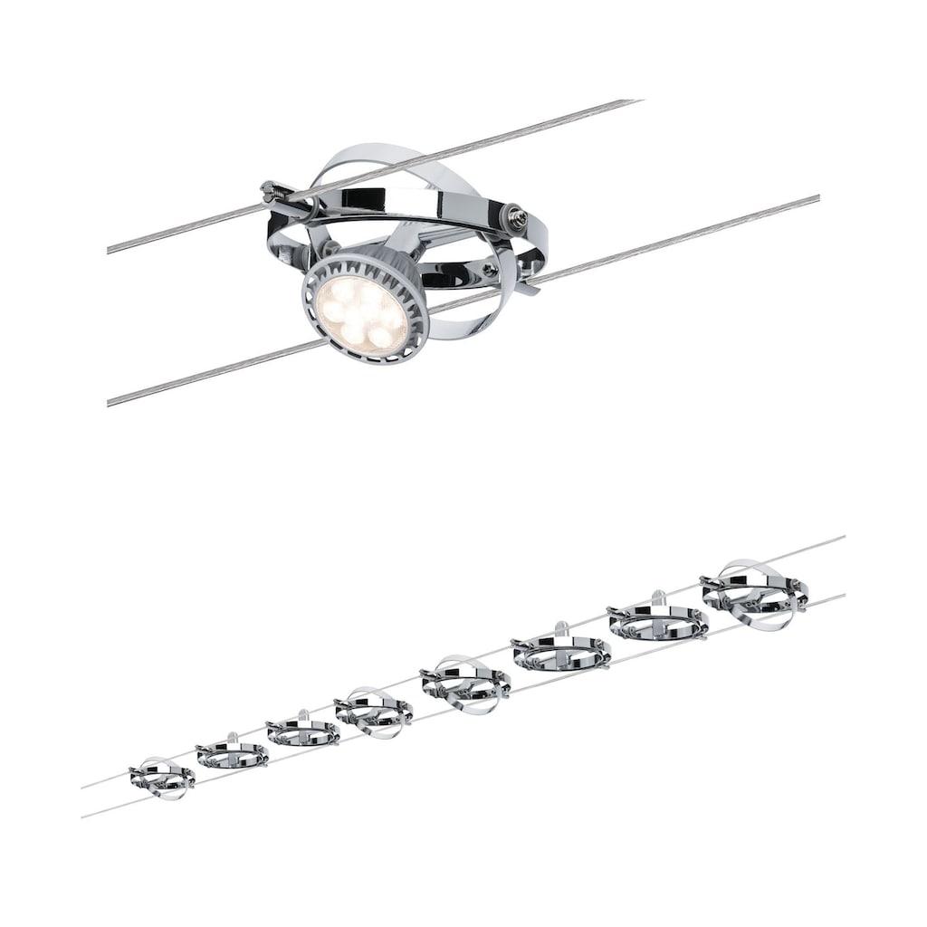 Paulmann LED Deckenleuchte »Seilsystem Cardan Chrom matt mit 8 Spots max. 10W GU5,3«, GU 5,3, 1 St.