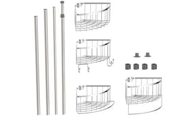 Eisl Duschregal, mit höhenverstellbarer Teleskopstange kaufen