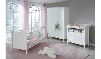 Babyzimmer-Komplettset »Westerland«, (Set, 3 tlg.), Bett + Wickelkommode + 3 trg. Schrank kaufen