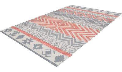 calo-deluxe Teppich »Kibo 412«, rechteckig, 10 mm Höhe, Hoch-Tief-Struktur, Wohnzimmer kaufen