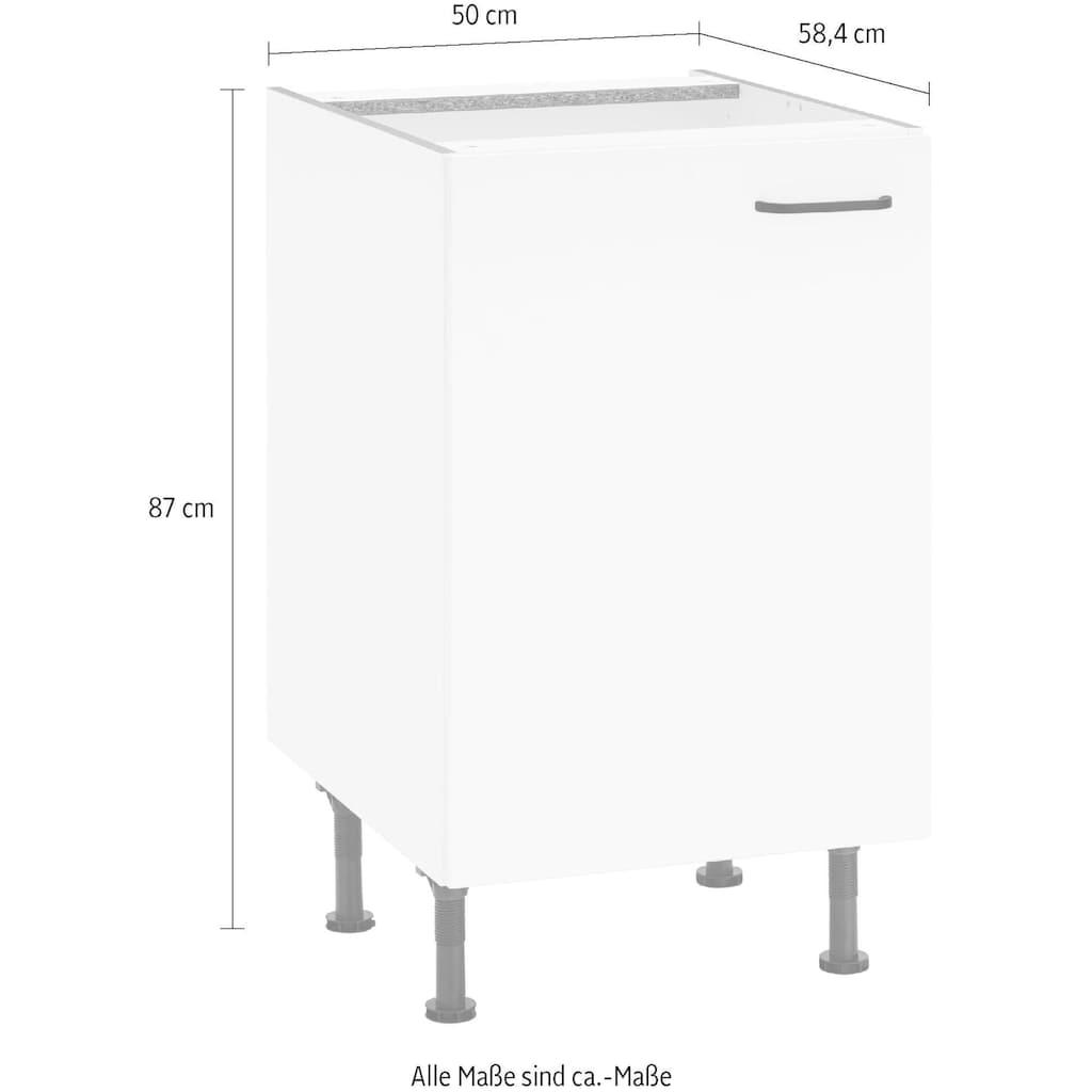 OPTIFIT Unterschrank »Elga«, mit Soft-Close-Funktion, höhenverstellbaren Füßen und Metallgriff, Breite 50 cm