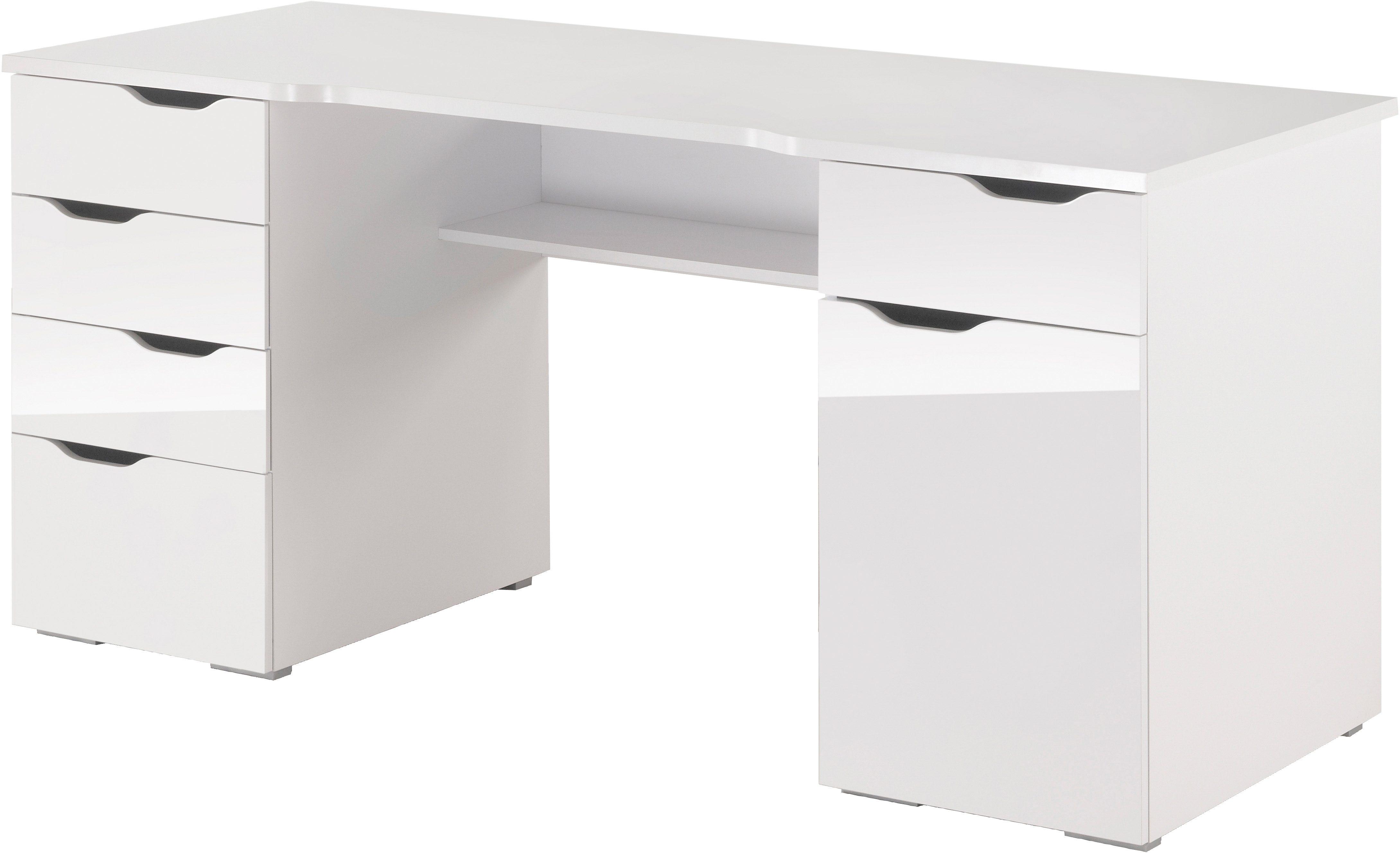 Schreibtisch Maja Möbel Cuba mit geschwungener Schreibtischplatte