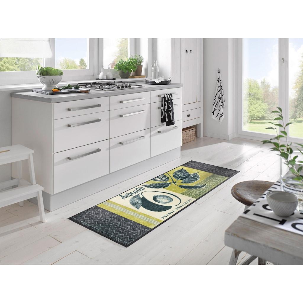 wash+dry by Kleen-Tex Küchenläufer »Avocado«, rechteckig, 7 mm Höhe, In- und Outdoor geeignet, waschbar