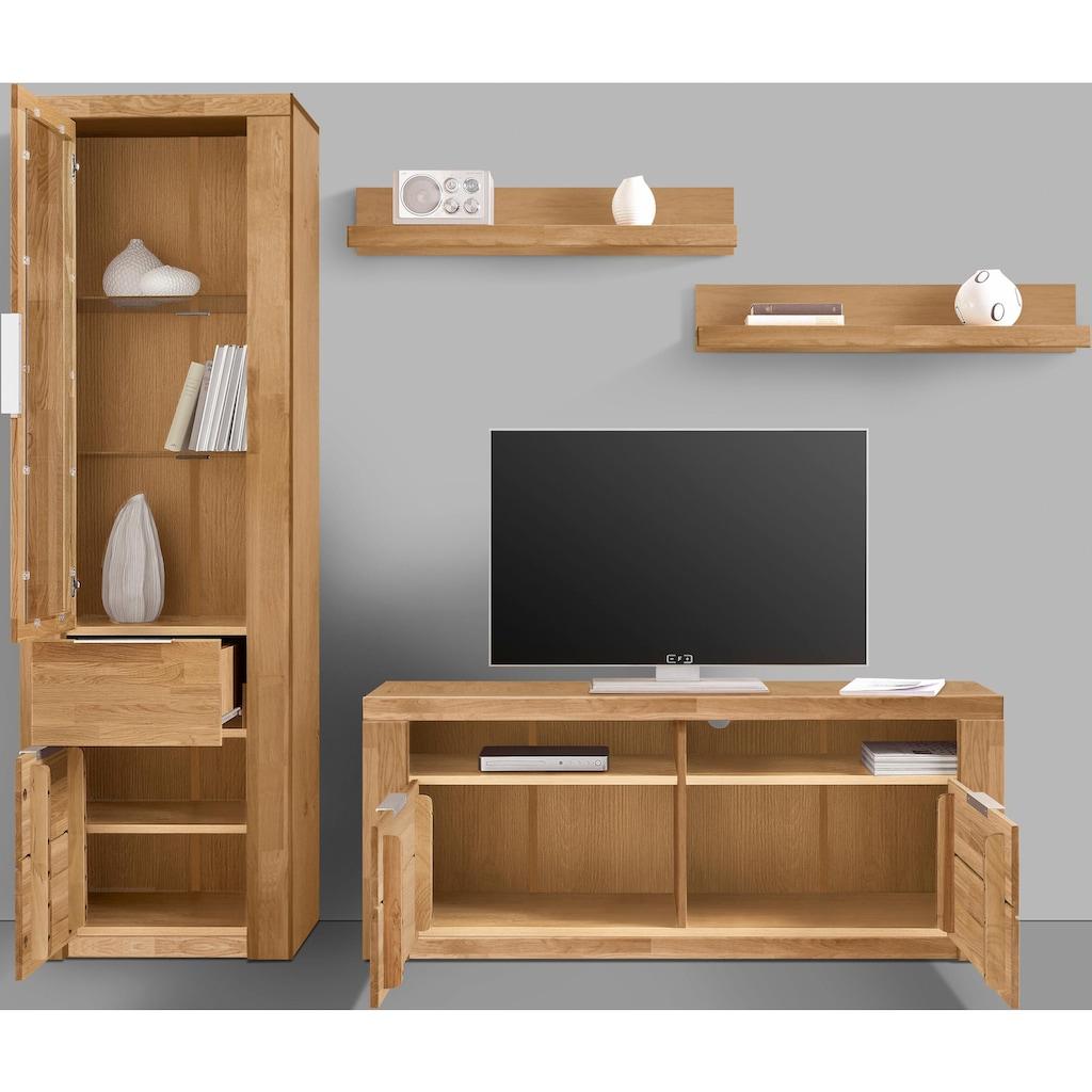Woltra Wohnwand »Zara«, (Set, 4 St.), teilmassives Holz