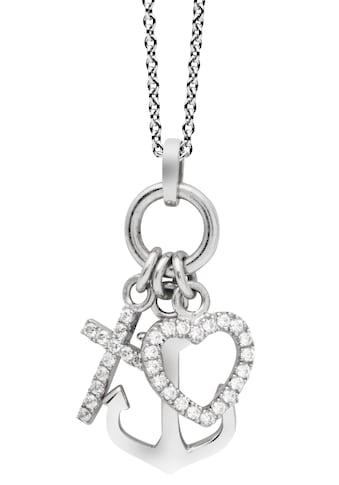 NANA KAY Kette mit Anhänger »Love Catcher, Glaube/Liebe/Hoffnung, ST1539«, mit Zirkonia kaufen