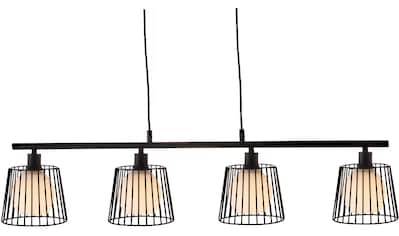 Nino Leuchten Pendelleuchte »Priso«, E14, 1 St., Hängeleuchte, Hängelampe, Glasschirme mit Drahtgeflecht kaufen