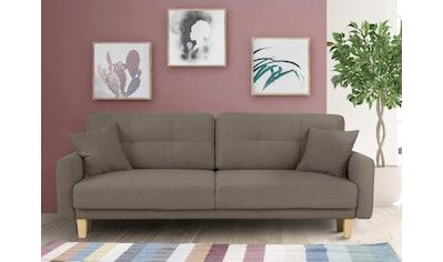 Home affaire 3-Sitzer »Triplo«, wahlweise mit Bettfunktion und Bettkasten, Zierkissen kaufen