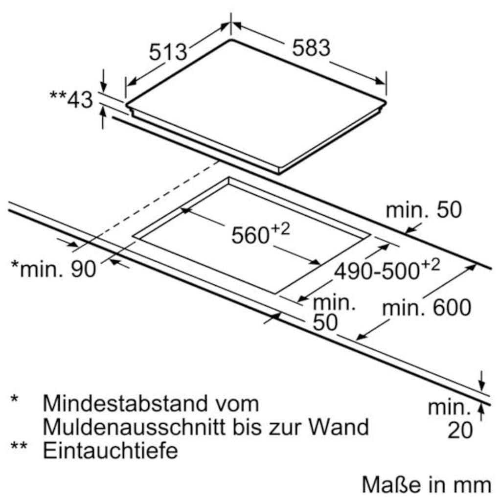 SIEMENS Elektro-Herd-Set »EQ521KS0V«, HE517ABS0, (Set), mit 3D-Heißluft Plus