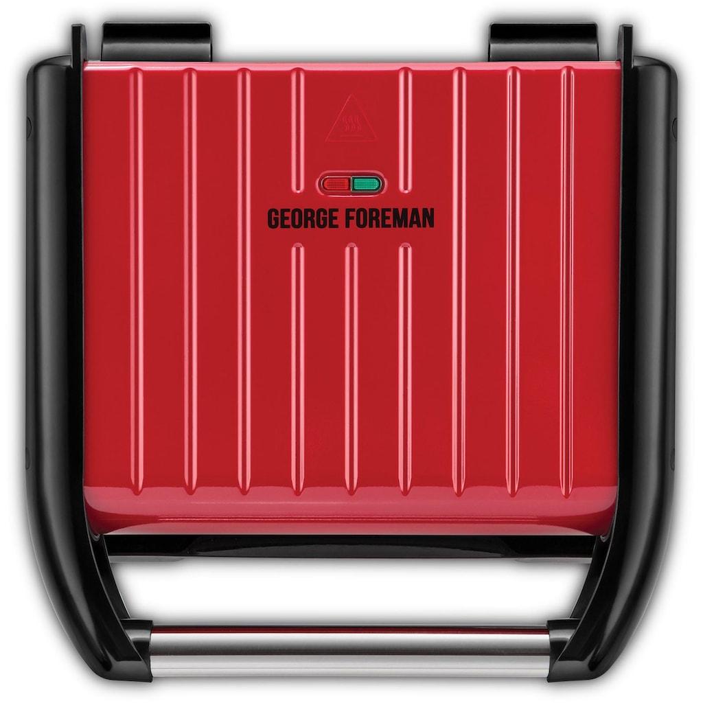 George Foreman Kontaktgrill »Steel Familiy Fitnessgrill Rot 25040-56«, 1650 W