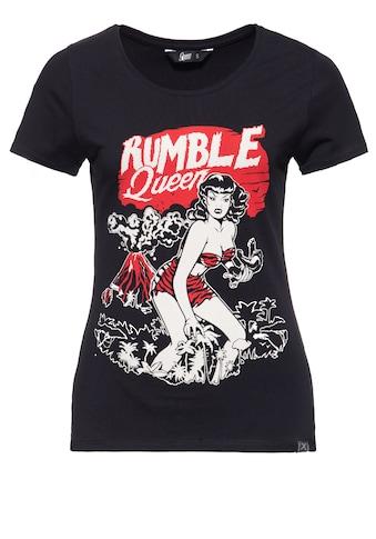 QueenKerosin T-Shirt »Rumble Queen«, im Vintage Look kaufen