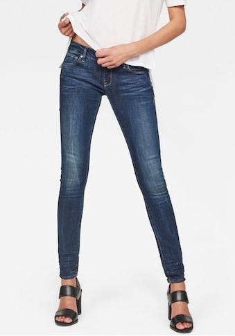 G-Star RAW Skinny-fit-Jeans »3301 Low Waist Skinny«, klassische 5-Pocket-Jeans mit modernisierter, vorteilhafter Konstruktion kaufen