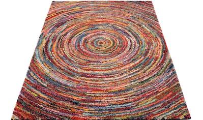 OCI DIE TEPPICHMARKE Hochflor-Teppich »Sixteen Round«, rechteckig, 25 mm Höhe, Wohnzimmer kaufen