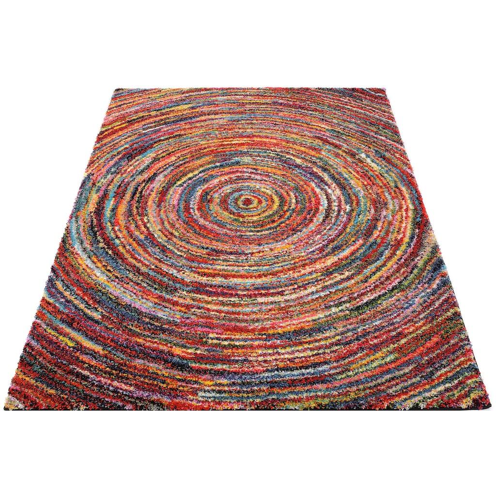 OCI DIE TEPPICHMARKE Hochflor-Teppich »Sixteen Round«, rechteckig, 25 mm Höhe, Wohnzimmer
