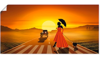 Artland Wandbild »Frau in rot«, Frau, (1 St.), in vielen Größen & Produktarten... kaufen
