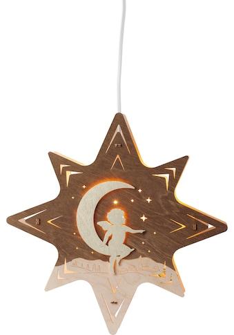 Weigla,LED Fensterbild»Engel auf Mond«, kaufen