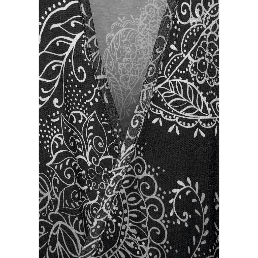 Vivance Dreams Kimono, im schwarz-weißen Paisley-Dessin