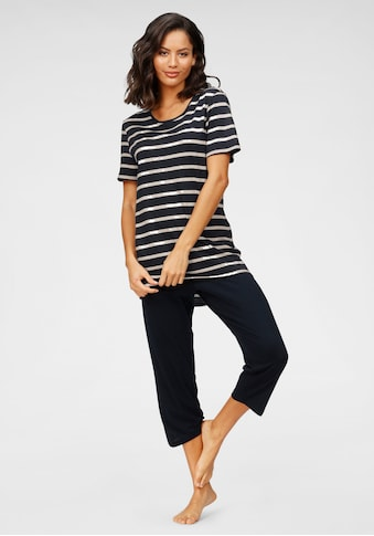 Schiesser Capri-Pyjama, mit geringeltem Top kaufen