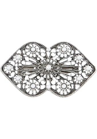 Alpenflüstern Brosche, Trachten mit Perlen kaufen