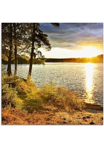 Artland Glasbild »Sonnenuntergang über See Algonquin Park«, Sonnenaufgang &... kaufen