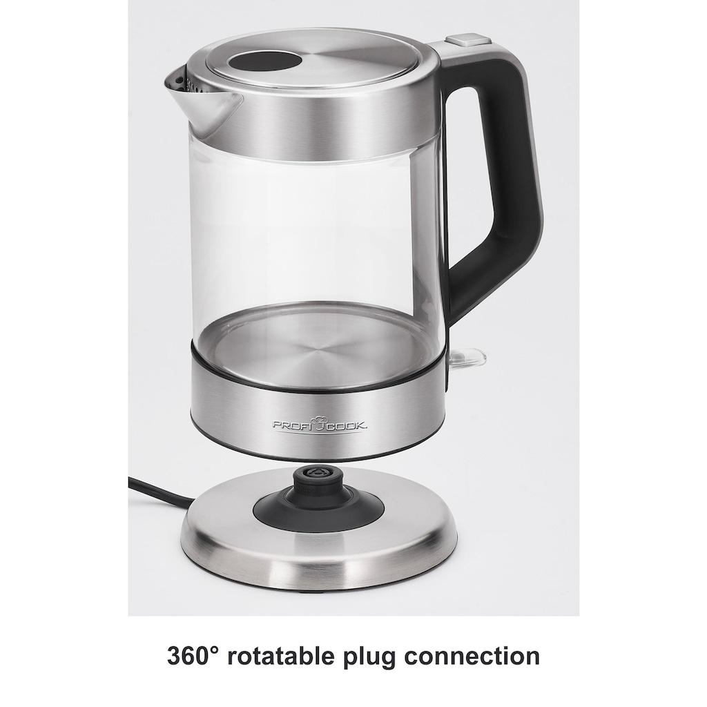 ProfiCook Wasserkocher »PC-WKS1107G«, 1,5 l, 2200 W