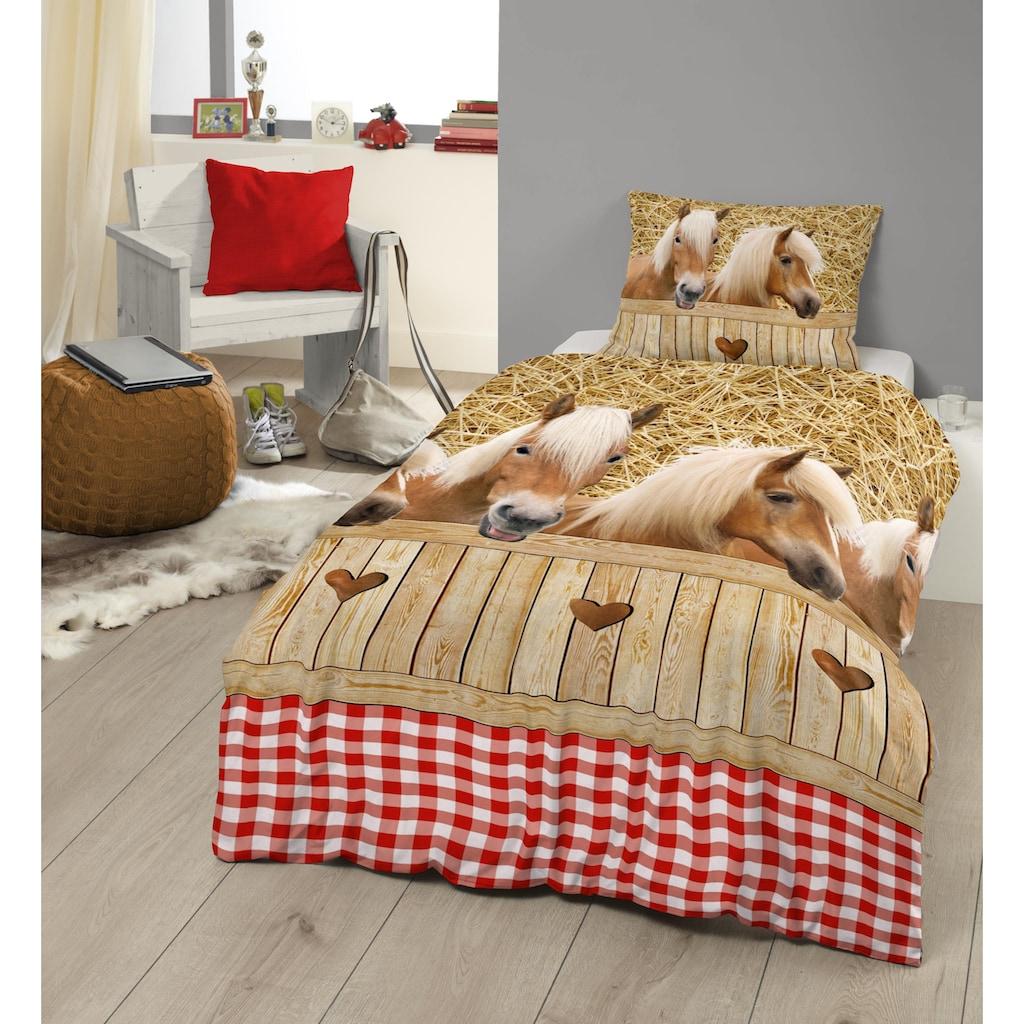 good morning Kinderbettwäsche »Haflinger«, mit Pferdemotiven