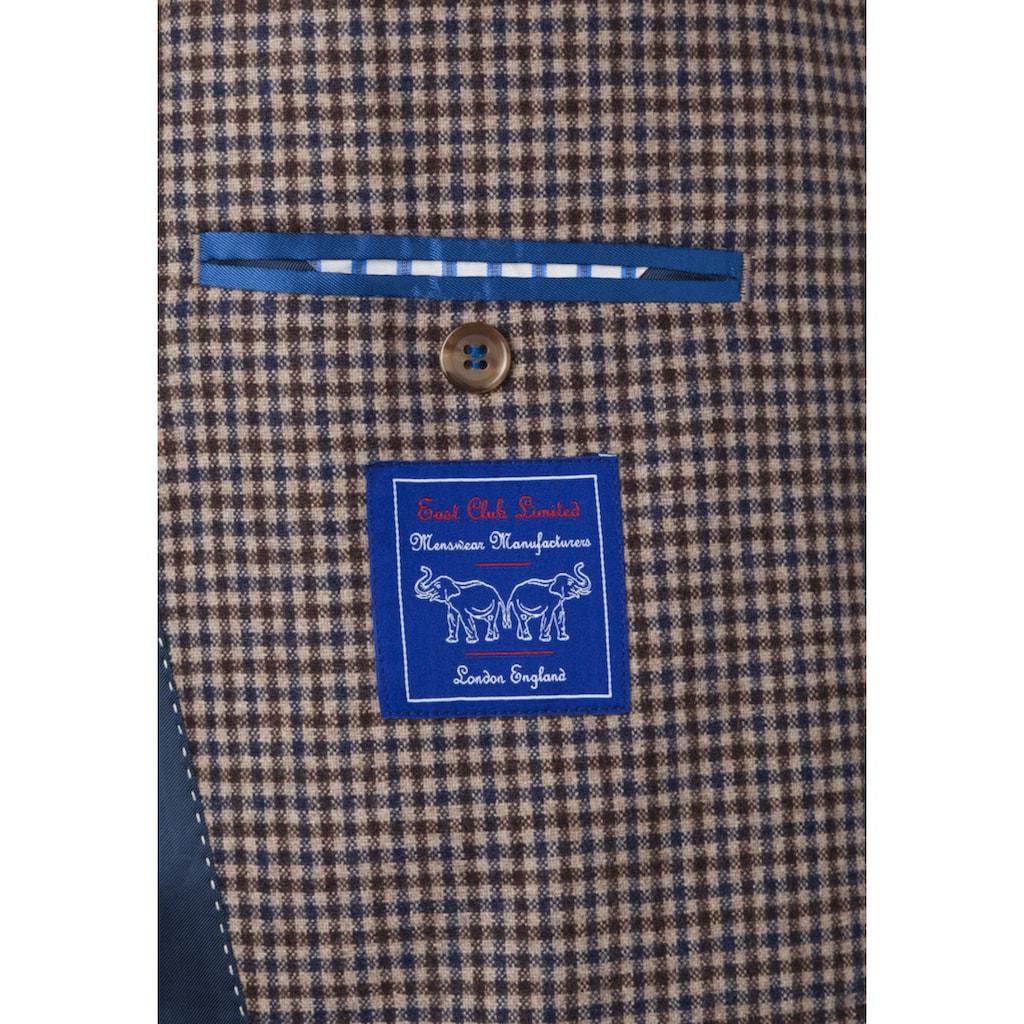 East Club London Sakko mit Ellenbogen-Patches