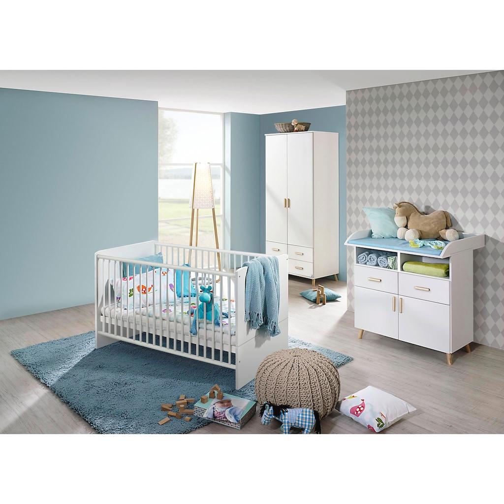 rauch ORANGE Babyzimmer-Komplettset »Potsdam«, (Set, 3 St.), Bett + Wickelkommode + 2 trg. Schrank