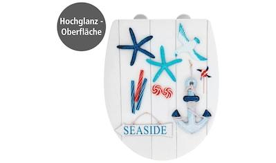 WENKO WC-Sitz »Seaside High Gloss«, Thermoplast kaufen