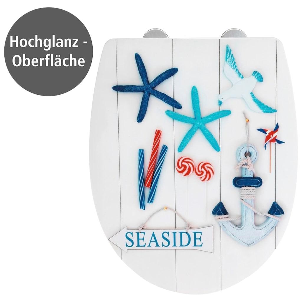 WENKO WC-Sitz »Seaside High Gloss«, Thermoplast