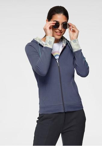 KangaROOS Sweatjacke, mit bedrucktem Kapuzenfutter und Ärmelaufschlag - NEUE KOLLEKTION kaufen
