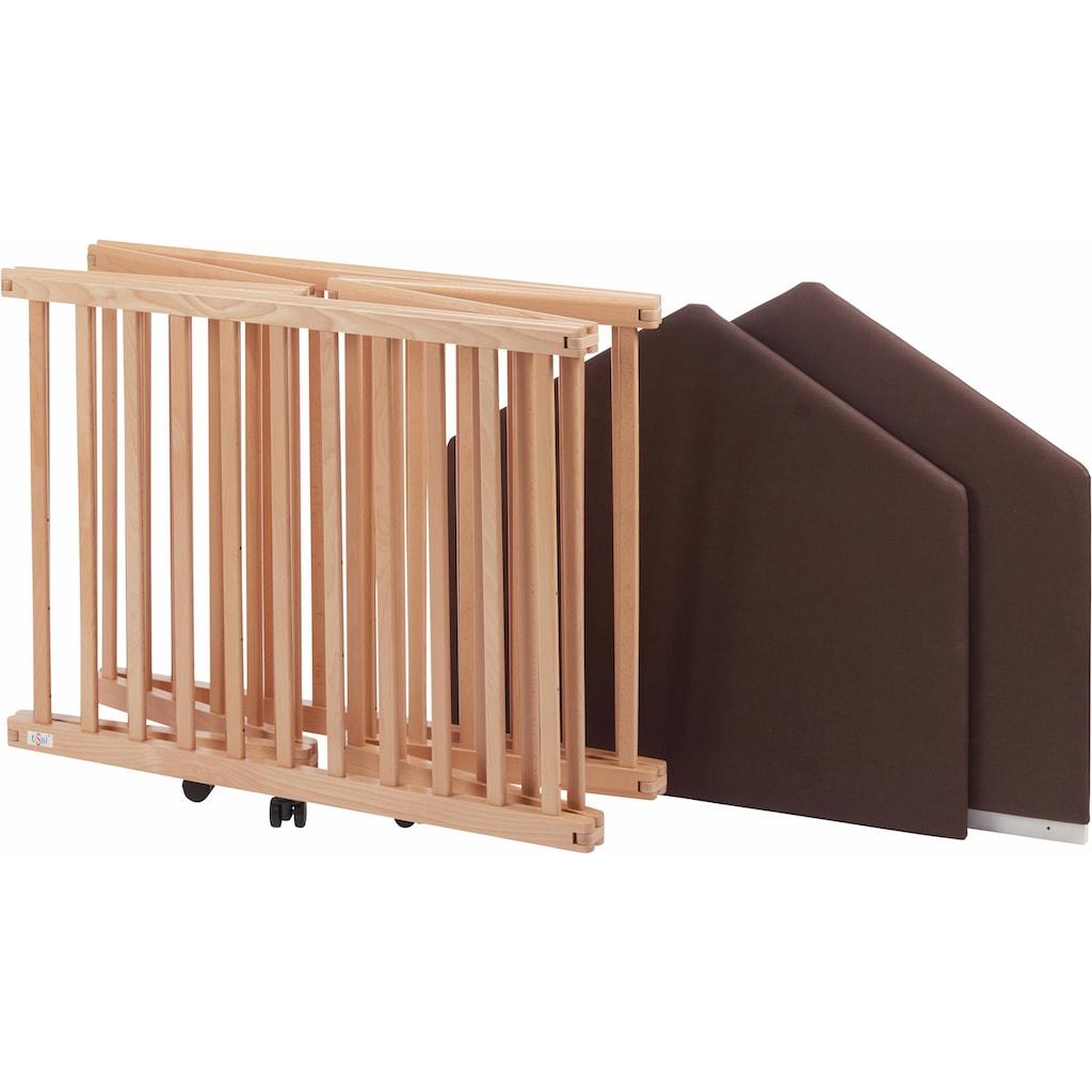 tiSsi® Laufgitter »Buche Natur, 6-eckig«, bis 25 kg, zusammenklappbar; Made in Europe