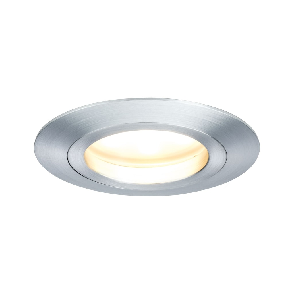 Paulmann LED Einbaustrahler »Coin satiniert rund 7W Alu 3er-Set dimmbar«, 3 St., Warmweiß