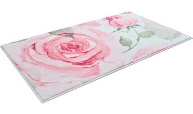 GRUND exklusiv Badematte »Rosen«, Höhe 9 mm, rutschhemmend beschichtet, strapazierfähig, weiche Haptik kaufen