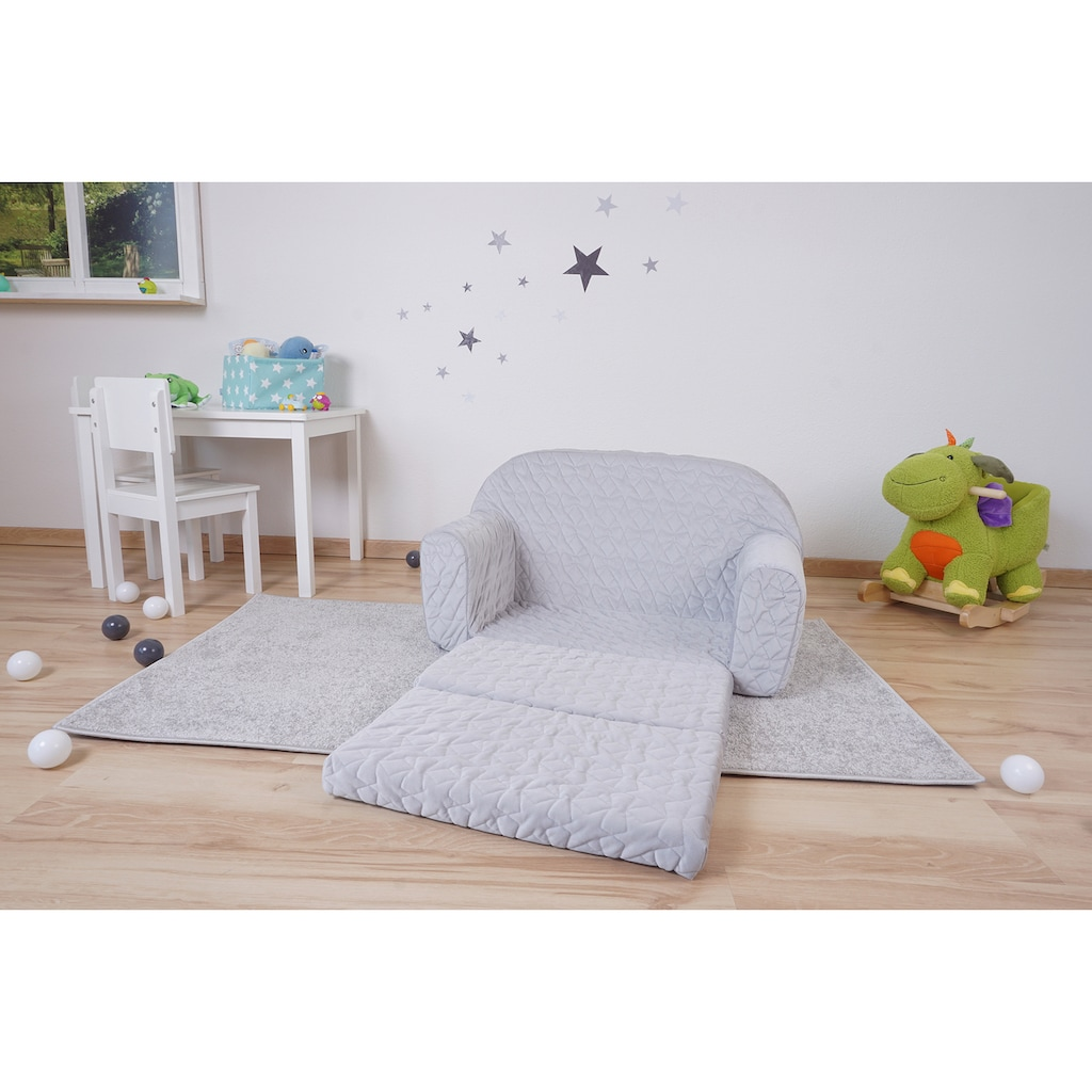 Knorrtoys® Sofa »Cosy, Geo Grey«, für Kinder; Made in Europe