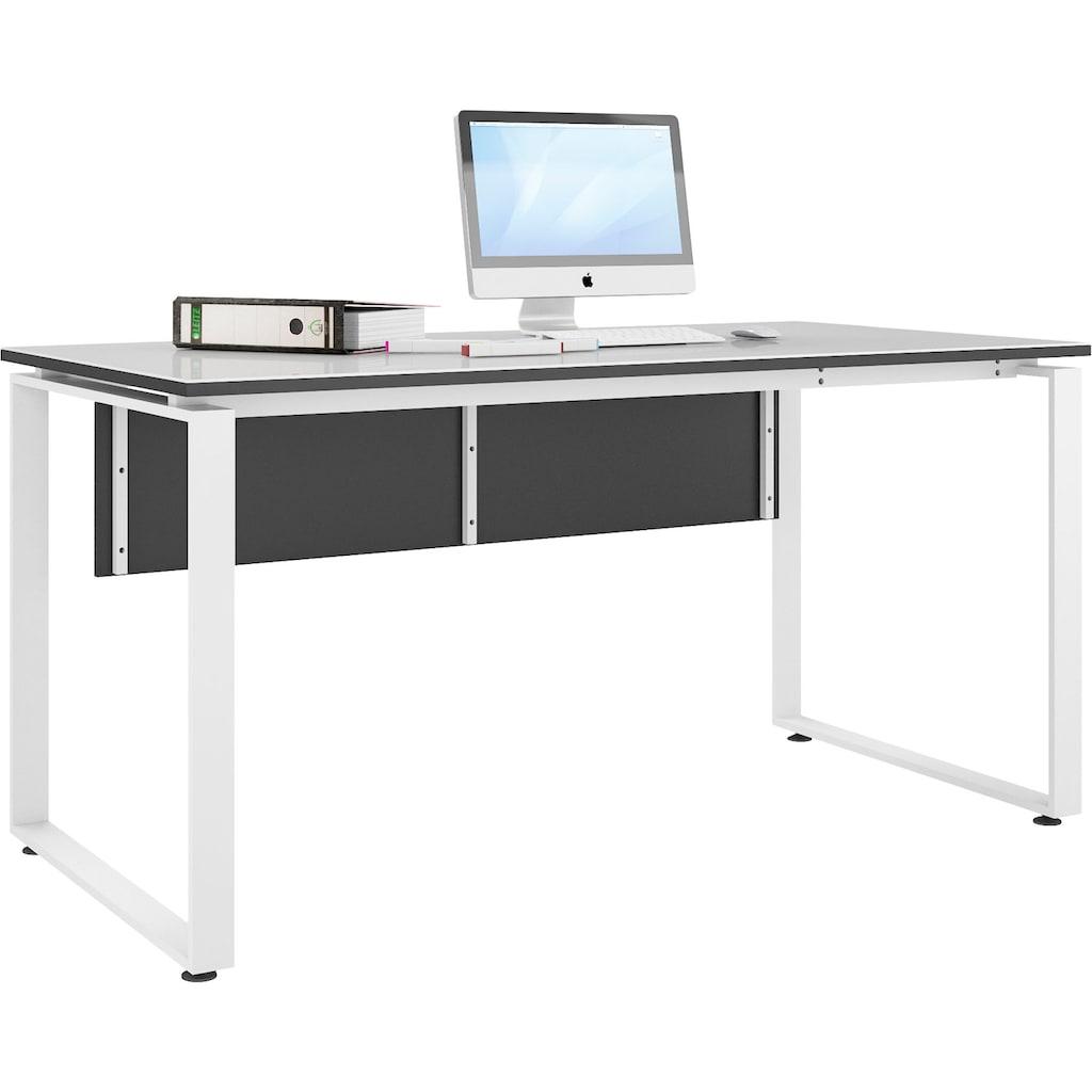 Maja Möbel Schreibtisch »Trendo«, Oberplatte aus ESG-Sicherheitsglas