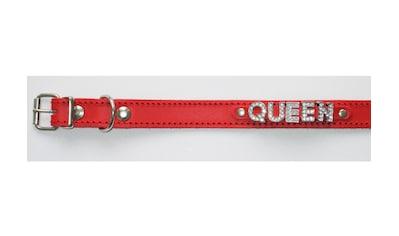 Hundehalsband »Queen« aus Leder in rot kaufen