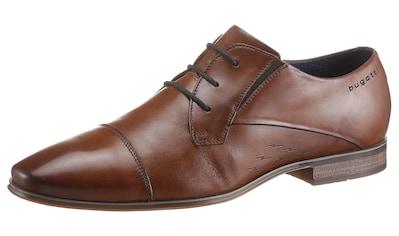 bugatti Schnürschuh »MORINO I«, mit Stretcheinsatz kaufen