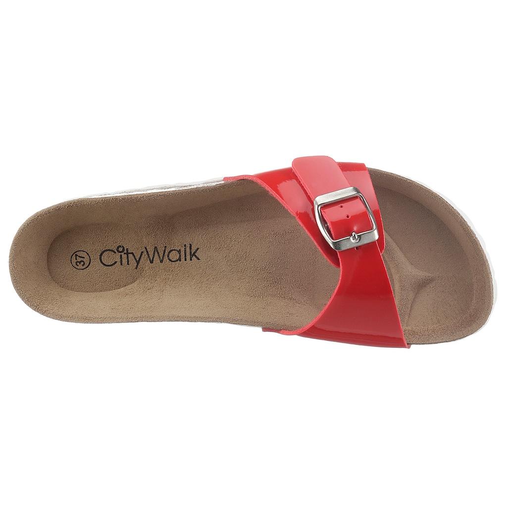 CITY WALK Pantolette, mit ergonomisch geformtem Fußbett