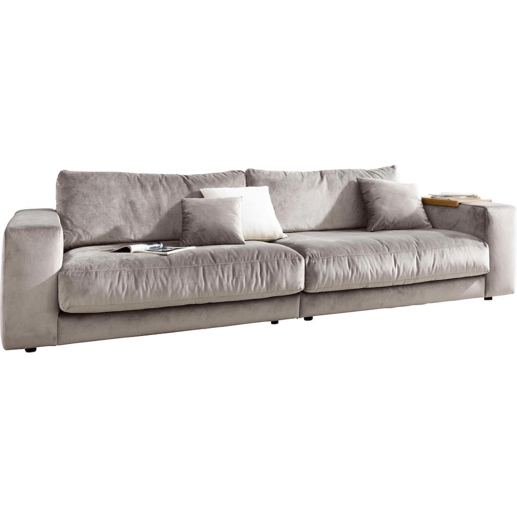 Places of Style Big-Sofa »Nizza«, bestehend aus Modulen, daher auch individuell aufstellbar; in hochwertiger Verarbeitung und gemütlichem Design, in Sitz- und Rückenkissen Beimischung von ca. 30% Federn