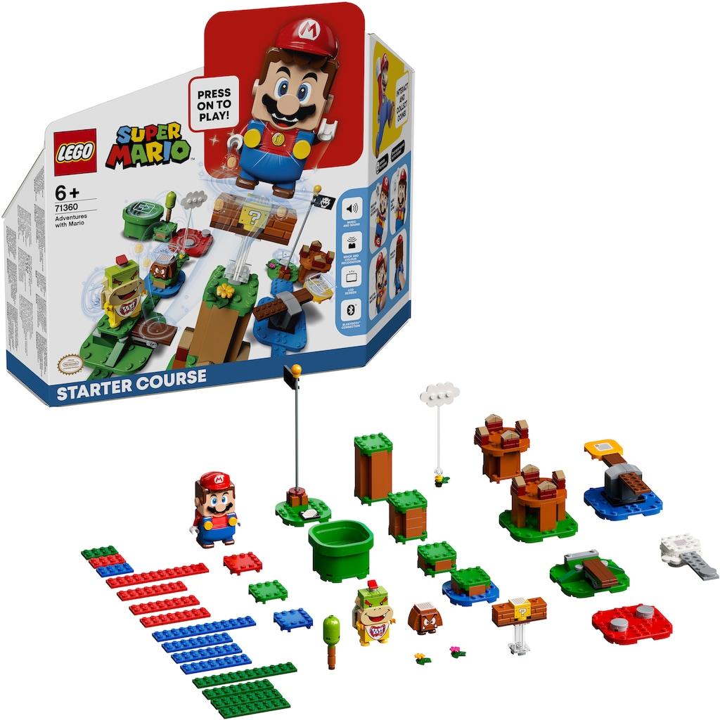 LEGO® Konstruktionsspielsteine »Abenteuer mit Mario – Starterset (71360), LEGO® Super Mario«, (231 St.)