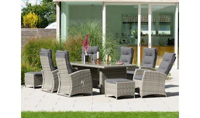 KONIFERA Gartenmöbelset »Monaco«, 17 - tlg.,6 Sessel, 2 Hocker, Tisch, Polyrattan kaufen
